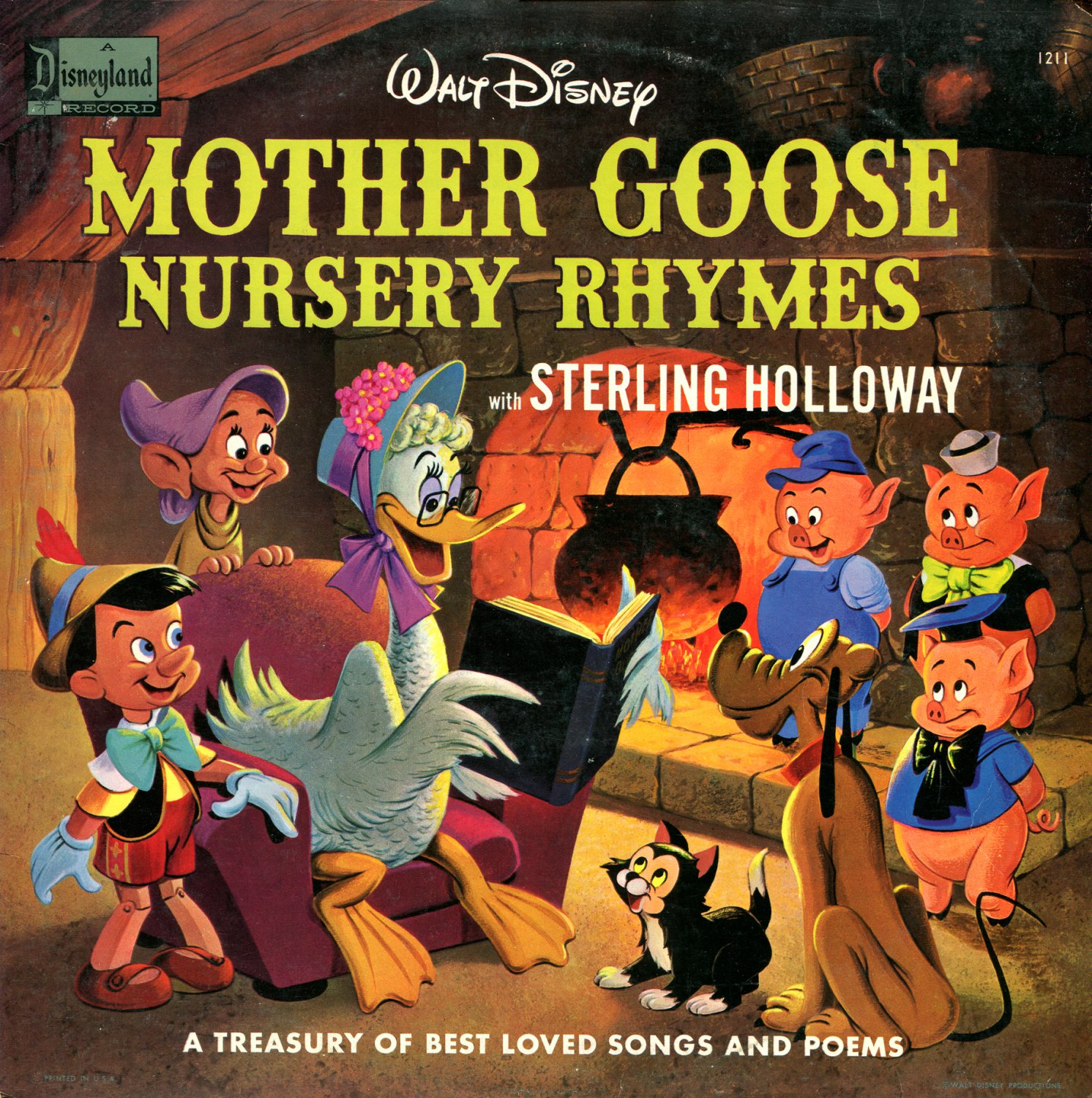 Mother Goose Nursery Rhymes - A Walt Disney Treasury Collection, Children's Songs LP/CD