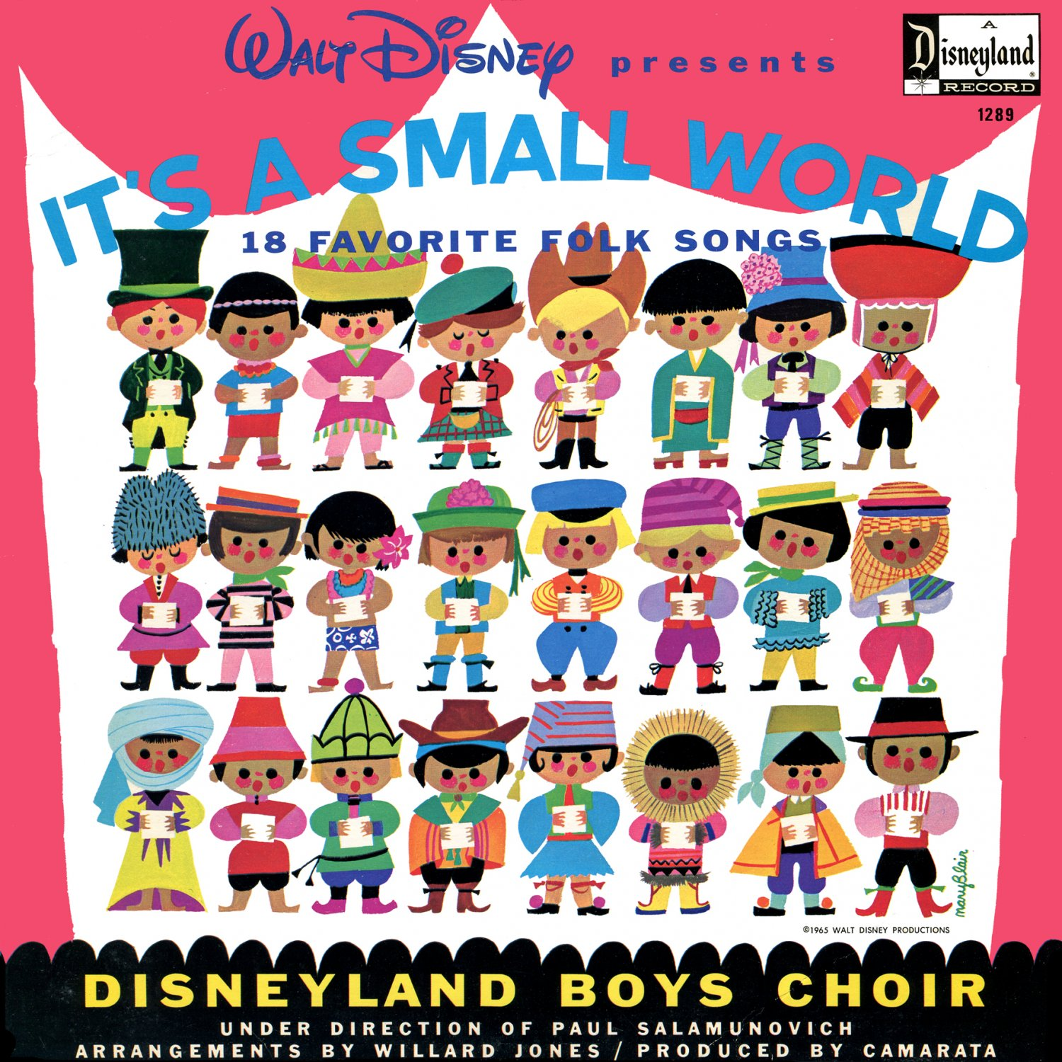 Walt Disney's It's A Small World - 18 Favorite Folk Songs, Disneyland Boys Choir LP/CD