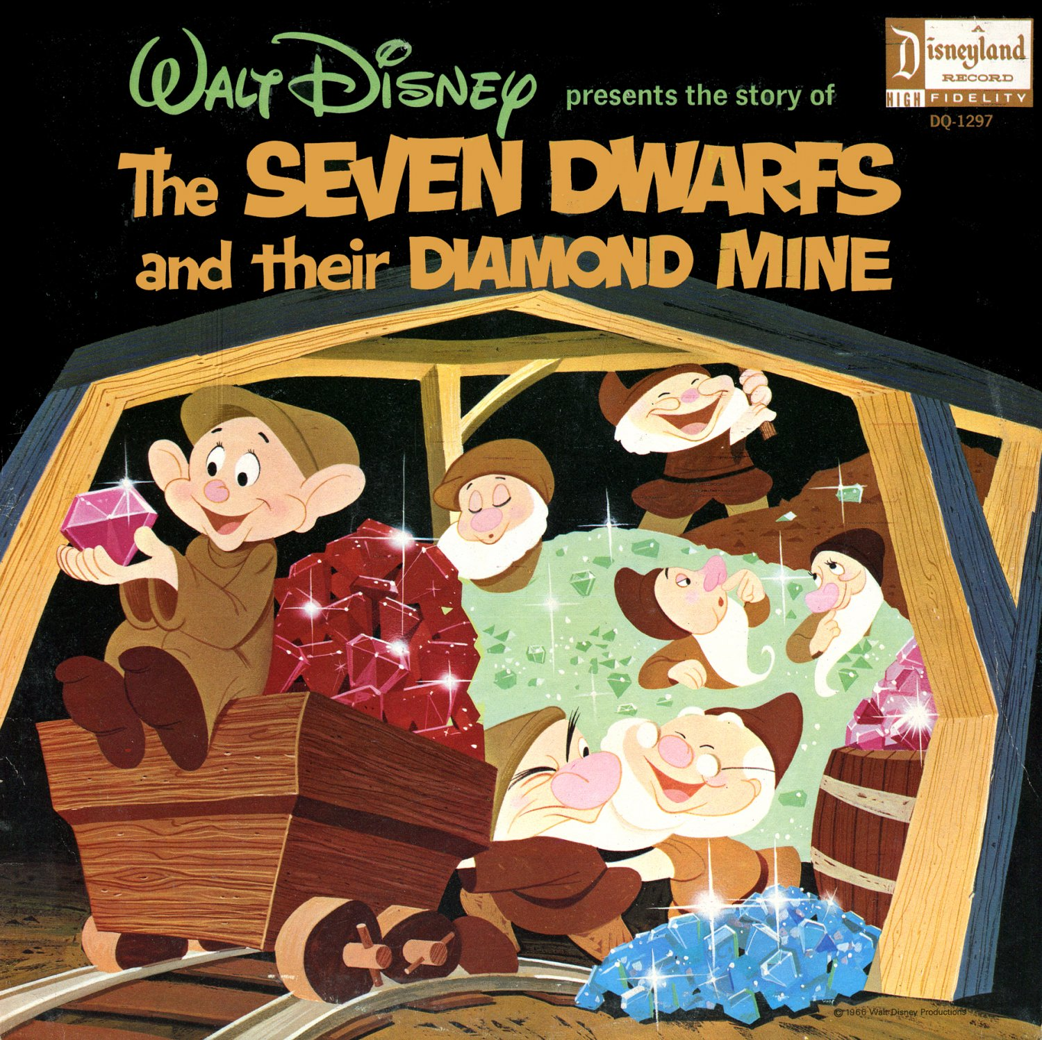 The Seven Dwarfs And Their Diamond Mine - Walt Disney Story Soundtrack, Snow White LP/CD