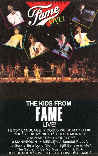 The Kids From Fame Live - Original Soundtrack, UK Tour OST Tape/CD