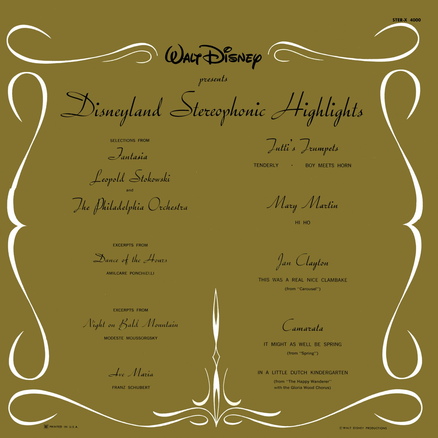 Walt Disney presents Disneyland Stereophonic Highlights - Soundtrack Collection LP/CD