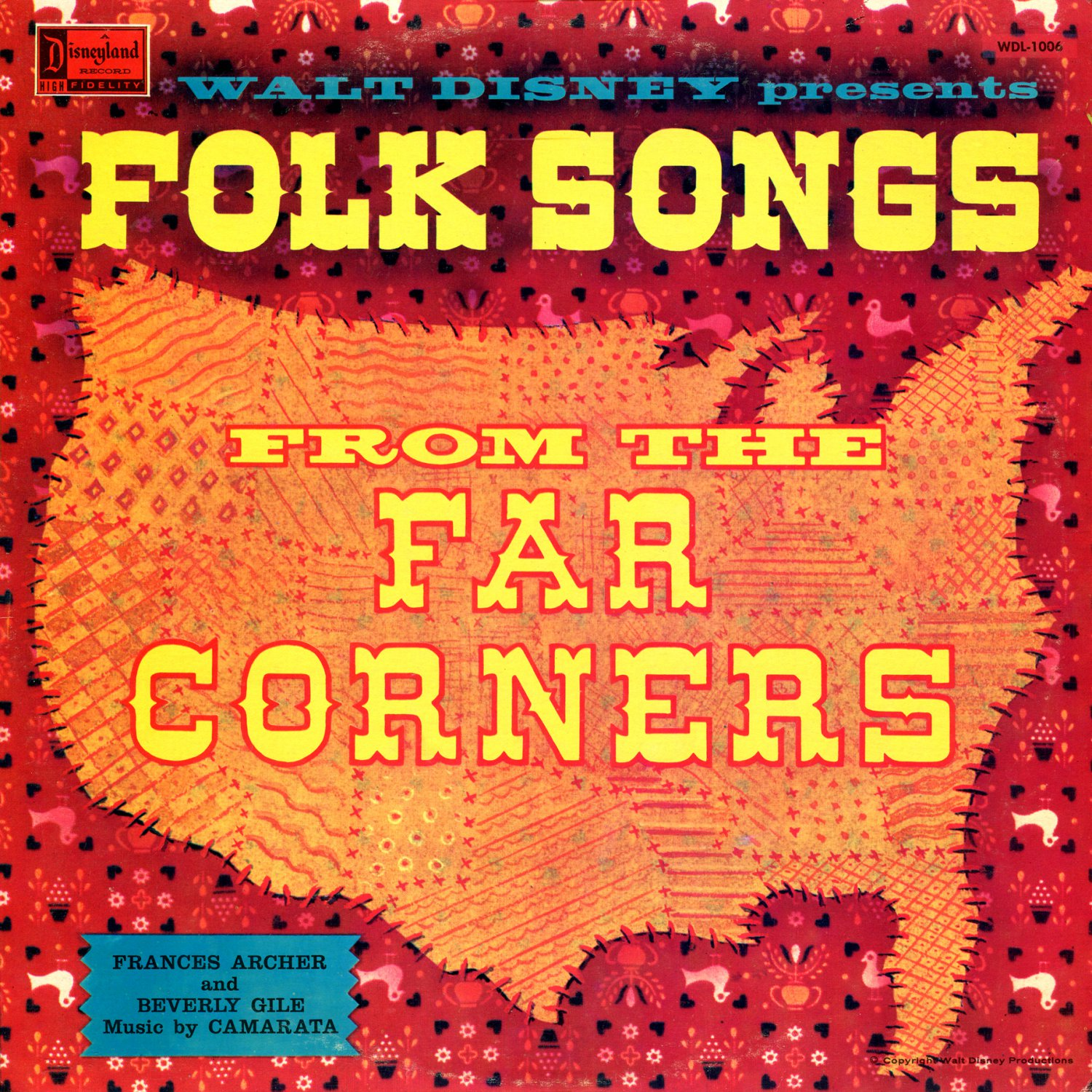 Walt Disney presents Folk Songs From The Far Corners - Music Collection LP/CD