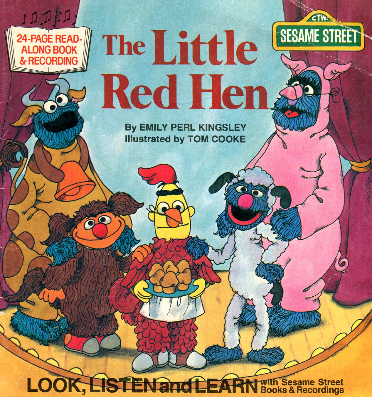 The Little Red Hen - Sesame Street Look-Listen-Learn Book & Record EP/CD