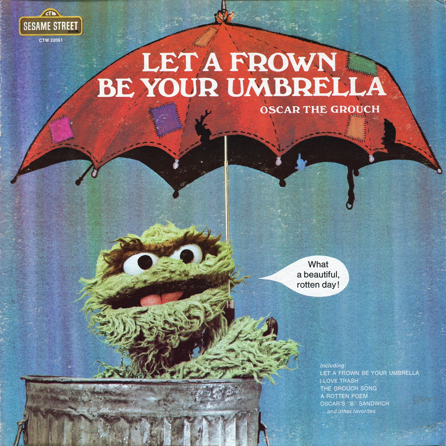 Let A Frown Be Your Umbrella - Sesame Street Soundtrack, Oscar the Grouch LP/CD