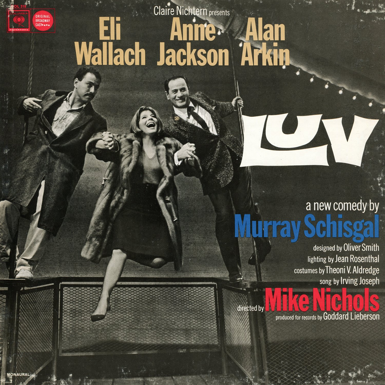 Luv - Original Broadway Cast Recording, A New Comedy by Murray Schisgal LP/CD