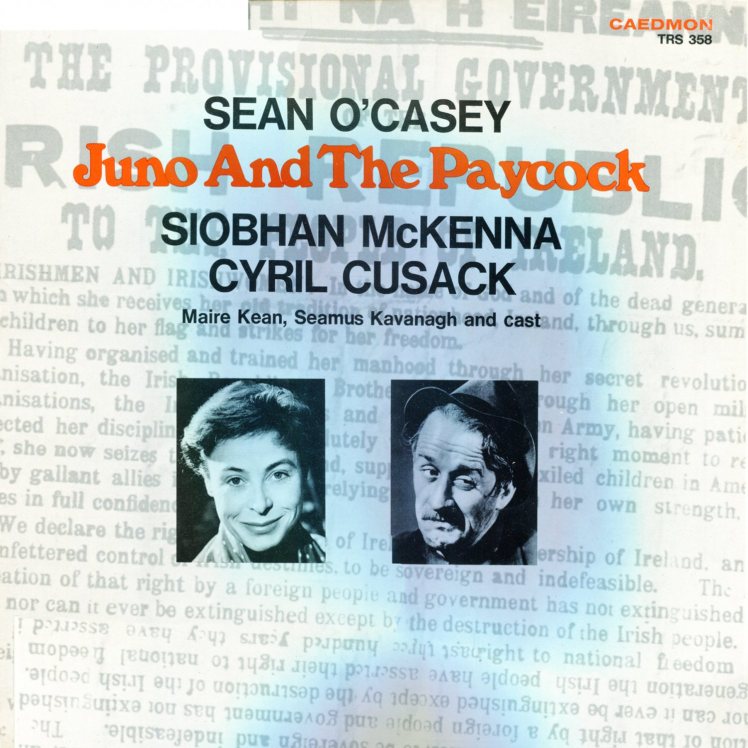Juno And The Paycock - Original Cast Soundtrack, Sean O'Casey LP/CD