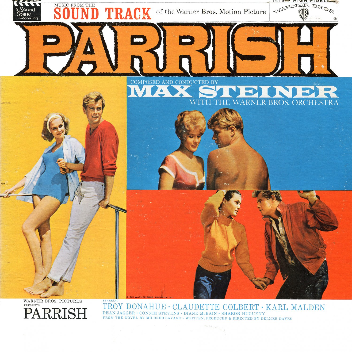 Parrish (1961) - Original Soundtrack, Max Steiner OST LP/CD