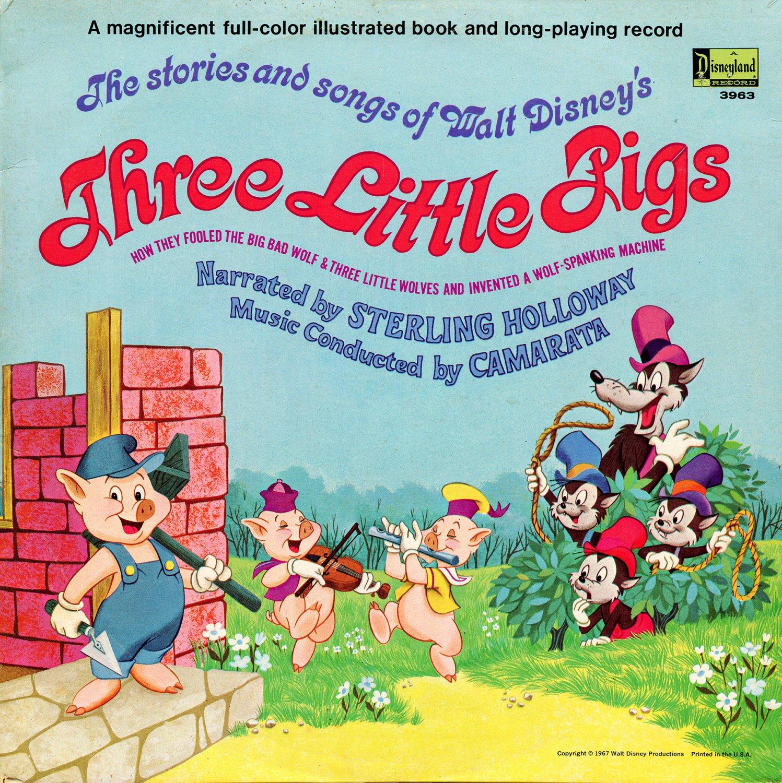 Walt Disney's Three Little Pigs - Story & Songs Soundtrack LP/CD