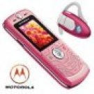 Motorola L6 Pink - Slvr Ultra Slim Design Cellular Mobile Phone Bluetooth Combo (unlocked)