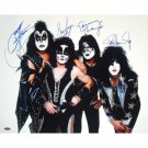 Kiss Autographed Group Pose 16x20 Photograph ~ white background