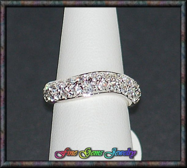 Clear Cz Gemstone Hallmarked .925 Sterling Silver Ring - Sz 5