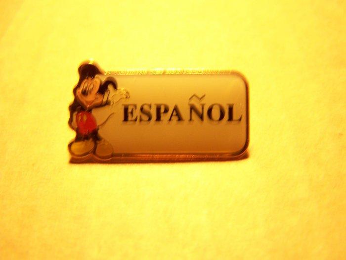 Disney- Cast Member Language Pin (Spanish)