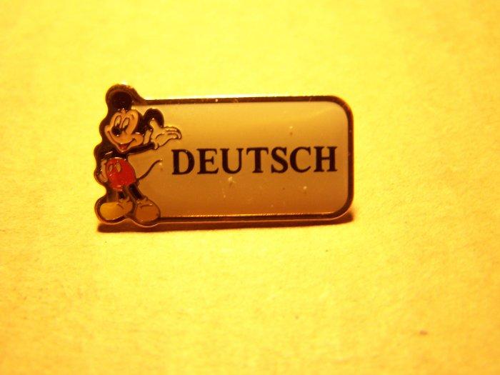 Disney  - Cast Member Language Pin (German)
