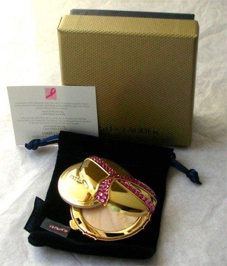 2005 ESTEE LAUDER Pink Ribbon Crystal Compact RARE NIB!