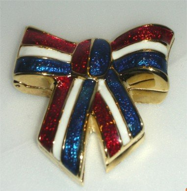 US FLAG BOW* Collectible Enamel Compact 03 ESTEE LAUDER