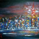 Christine ART Original Acrylic Painting NIGHT SHANGHAI