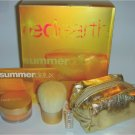 RED EARTH Bronzing Shimmer Powder KABUKI Brush Gold Bag