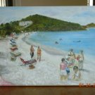 Christine ART Original Oil Painting *COKI POINT* BEACH
