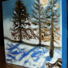 Christine ARTIST NY Original Oil Painting SUNSHINE SNOW