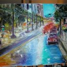 Christine ART Original Oil Painting NIGHT RAIN TORONTO