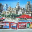 Christine ART Original Acrylic Paintings SHANGHAI Light