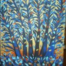Christine Original Acrylic Painting BLUE TREE MOONLIGHT