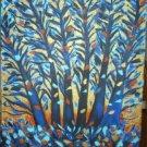 Christine Original Acrylic Painting BLUE TREE MOONLIGHT