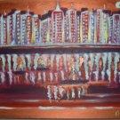 Christine ARTS Original Acrylic Paintings NIGHT HARBOUR