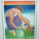 Christine ART Original Oil Painting *SIMPLE PLEASURES*