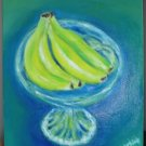 Christine ART Original Oil Paintings BANANAS Still Life