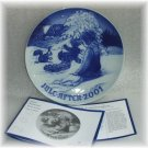 Bing & Grondahl *JULE AFTEN 2001* Christmas Plate NIB!