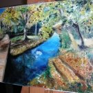 Christine ART Original Oil Painting AUTUMN NIAGARA FALL