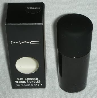 MAC Nail Lacquer Polish NOCTURNELLE* Night Black M.A.C