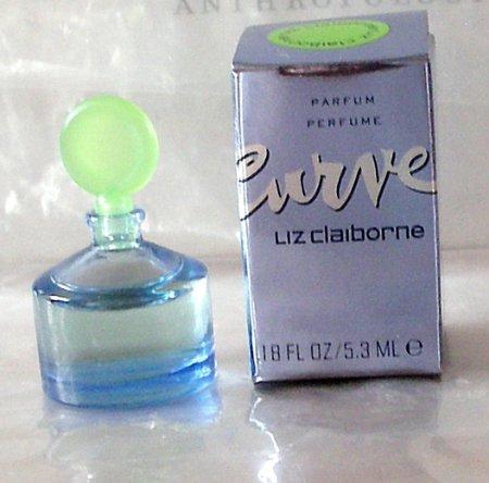 CURVE Women Pure Parfum Collectible Mini Perfume LIZ CLAIBORNE NIB!