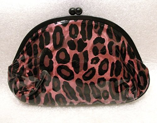MAC Pink Leopard Cosmetic Kiss Lock Clutch Bag LIZ GOLDWYN M.A.C Cosmetics