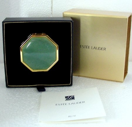 ESTEE LAUDER Powder Compact RU YI *All your dreams come true* Chinese Jade NIB!