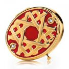 ESTEE LAUDER GOLDEN LATTICE Red Enamel Crystal Powder Compact Limited-ED NIB!