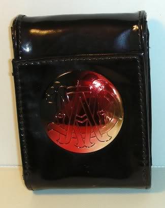 MAC MONOGRAM Glossy Patent Signature Logo Makeup Bag Small Cosmetic Case NEW!