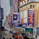 Christine ART Original Oil Painting NEW YORK CITY 5th Avenue Signed Artist 2009