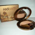 RED EARTH Lacy Afternoon Cheek Blush Powder Compact BROWN SUGAR NIB!