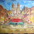 Christine ART Original Oil Paintings Eterna ROME Spanish Steps Signed 2007