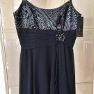 BCBG MAX AZRIA SILK Sequins Cocktail Dress $398 SIZE 2 Navy Blue NWT!