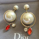 Dior Tribal Earring 2016 Summer Mise en DIOR White Red Crystal Dangle