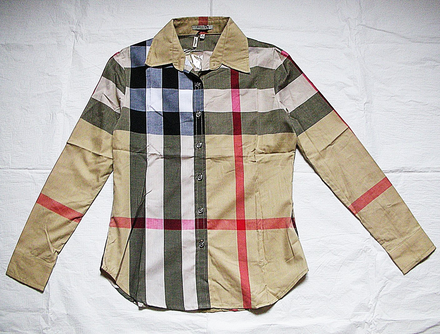 BURBERRY LONDON NOVA CHECK Women Shirt Made in England Size S Authentic NWT! cfcfe0989c