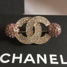 CHANEL Violet Crystal Globes Brooch Pin CC 2015 Authentic HALLMARK