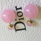 DIOR TRIBALE Mise en Dior TRIBAL Earrings BABY PINK CRYSTAL Rare!