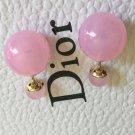 DIOR TRIBALE Mise en Dior TRIBAL Earrings BABY PINK CRYSTAL Rare!