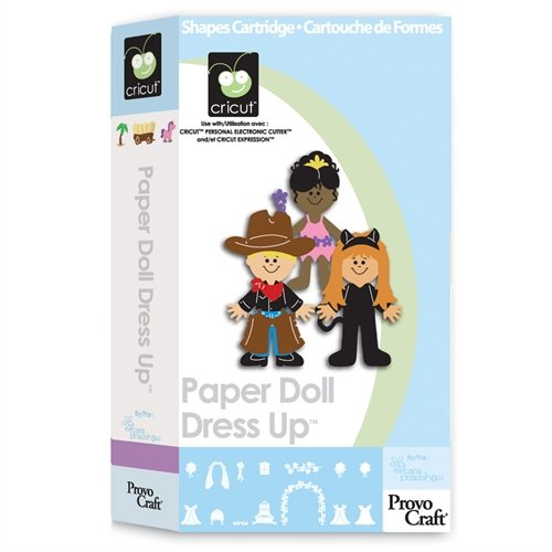 Cricut Paper Doll Dress Up Cartridge for Cricut Expression & CriCut Personal Cutter