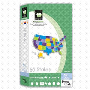 CriCut 50 States Cartridge for Cricut Expression & CriCut Personal Cutter