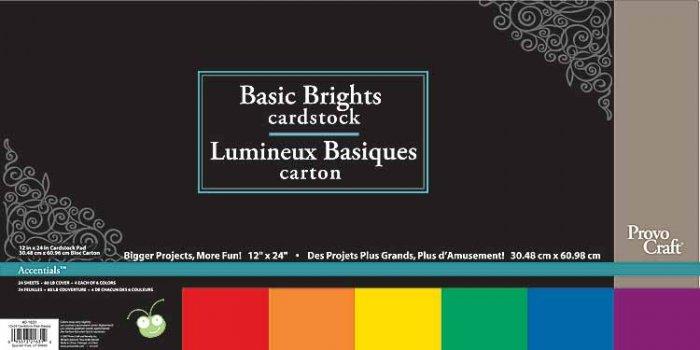 CriCut Basic Brights 12x24 Card Stock